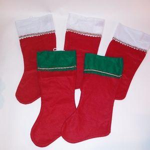 (5) Felt Stockings